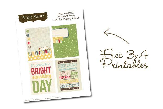 Free Printables: Simple Stories 3x4 Summer Fresh CardsLife Printables, Book Printables, Free Smash Printables, Project Life, Smash Book, Google Search, Free Samples, Projects Life, Free Printables