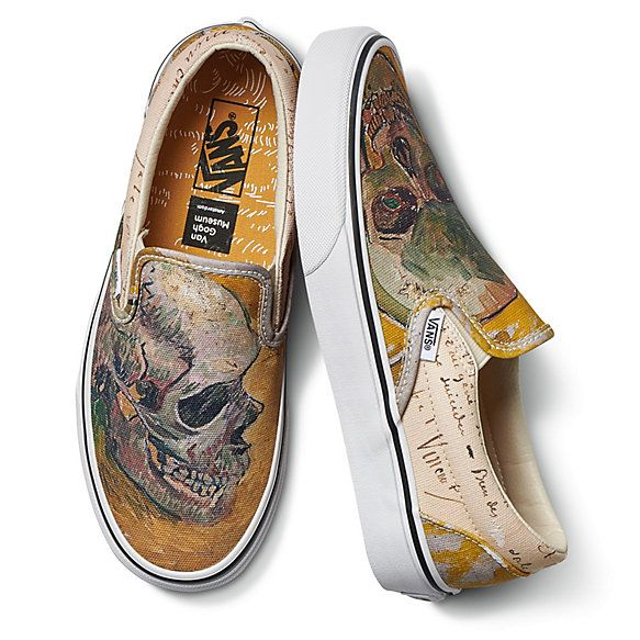 Shoes With Vincent Van Gogh Painting Of A Skull What More Could Anyone Want Vans Classic Slip On Sneaker Slip On Shoes Vans Slip On