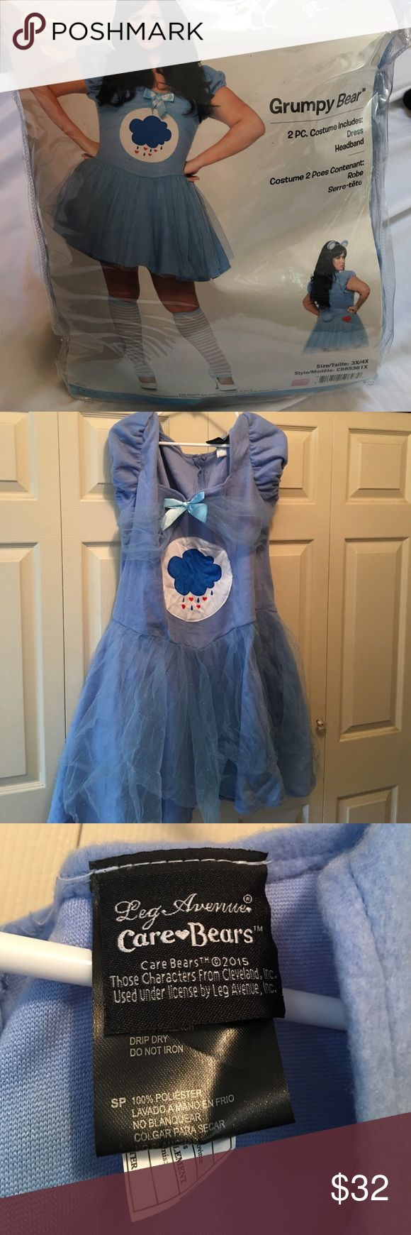 ❤️Care Bears ❤️by Leg Avenue Costume 3x/4x Wore this for Halloween last year for about 2 hours - received many compliments because it was so darn cute. Comes with dress and headband. No signs of wear or tear. Come from smoke and pet free home. Leg Avenue Other