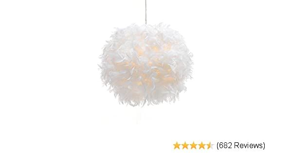 Waneway Feather Lamp Shade for Ceiling Pendant Light Lampshade for Table Lamp