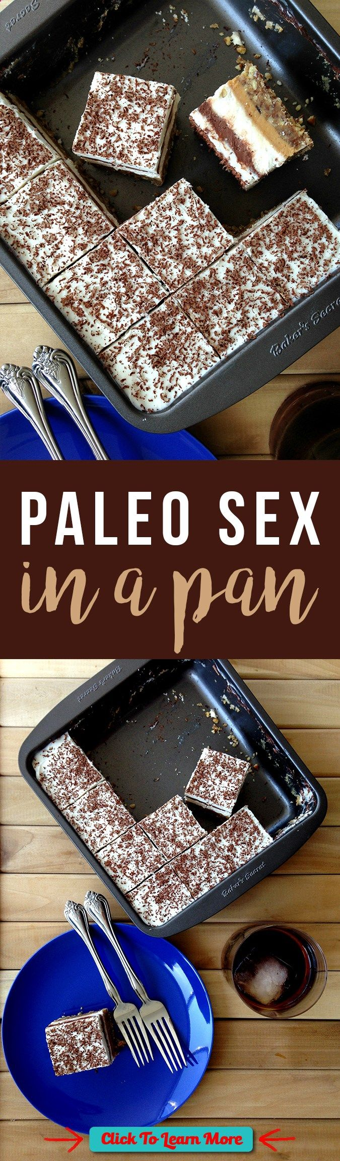 #FastestWayToLoseWeight by EATING, Click to learn more, Decadent layered Paleo Sex in a Pan is a memorable treat! Click to read the recipe or pin for later. GrokGrub.com , #HealthyRecipes, #FitnessRecipes, #BurnFatRecipes, #WeightLossRecipes, #WeightLossDiets