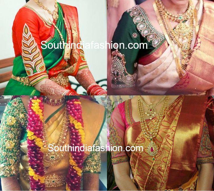 Wedding Saree Blouse Designs ~ Celebrity Sarees, Designer Sarees, Bridal Sarees, Latest Blouse Designs 2014: