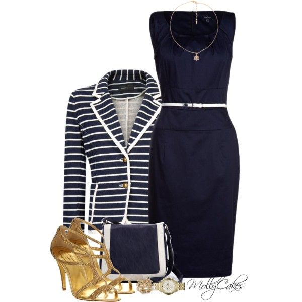 Business style dress polyvore quotes