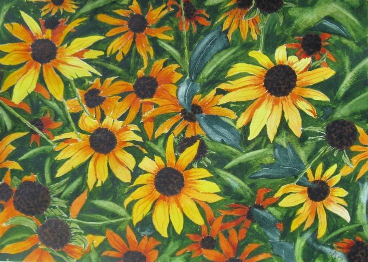 Watercolour of flowers in my garden.