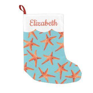 Beachy Christmas Stocking Starfish