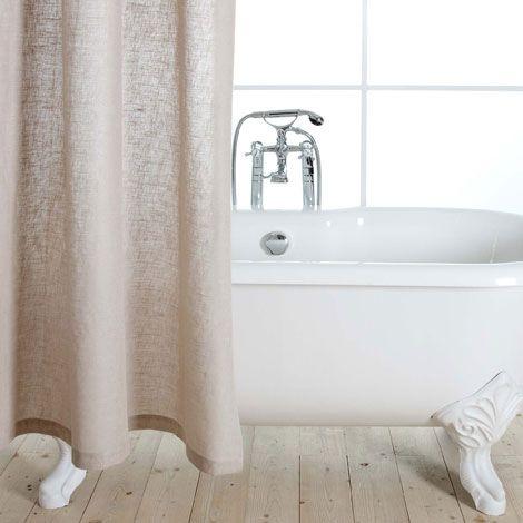rideau de douche lin zara home france 60 rideaux pinterest rideaux de douche douches. Black Bedroom Furniture Sets. Home Design Ideas