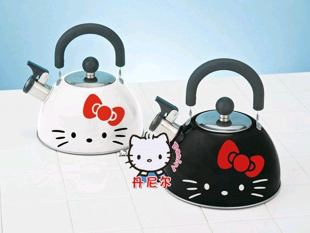 Hello Kitty Enamel Stove Top Whistling Tea Kettle For
