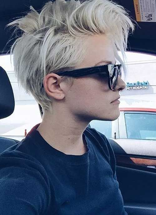 22.Short Funky Pixie Hairstyles More