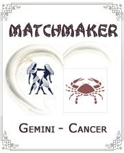 Gemini woman and Cancer man relationship goes smooth as long as Cancer man can accept outgoing nature of Gemini woman and Gemini woman feels warm in the arms of Cancer man. There can be some problems in this relationship but this pair often succeeds in - Click for more info