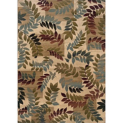 @Overstock.com.com - An abstract leaf pattern completes this machine-woven rug. A durable stain resistant construction is included along with a range of colors including ivory, blue-green, rust, olive and beige.http://www.overstock.com/Home-Garden/Indoor-Ivory-Leaf-Motif-Area-Rug-32-x-55/5804426/product.html?CID=214117 $34.99