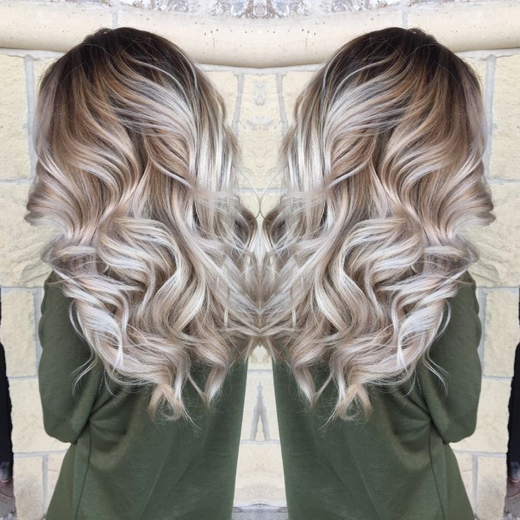 Bayalage, icy blonde. Perfect natural color.