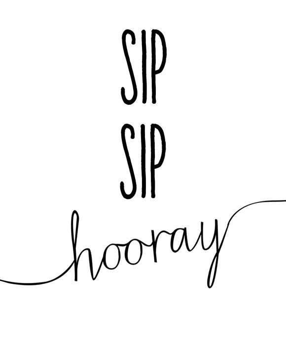 SIP SIP Hooray :: Free Printable