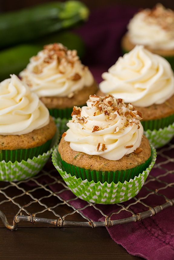 Spiced Zucchini Cupcakes with Cream Cheese Frosting - Cooking Classy