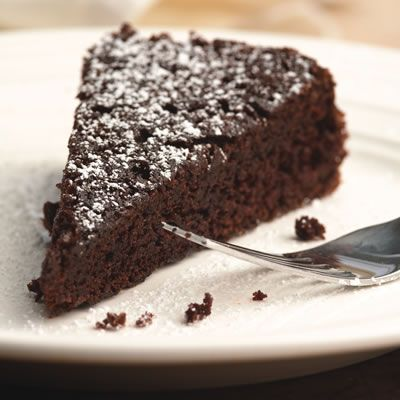 One-Bowl Chocolate Cake   By making this simple cake from scratch, you can use healthful oil, whole-wheat flour, and no-calorie sweetener.