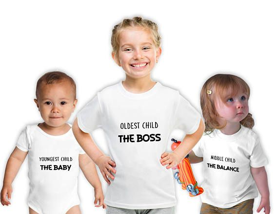 1a26d60b Oldest Child Middle Child Youngest Child T-Shirts Matching   Brother ...