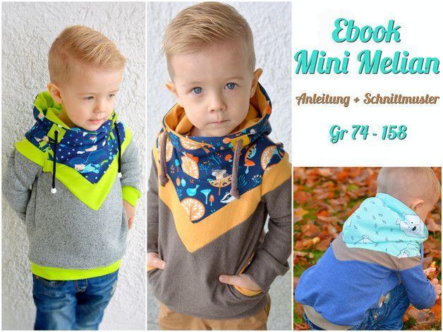 **Mini Melian, ein richtig cooler Hoodie für die Kleinen und Großen Kinder**  Mini Melian ist legerer, cooler und sehr lässiger Schnitt.  Er ist wandelbar und vielseitig.  Es sind im Schnitt...