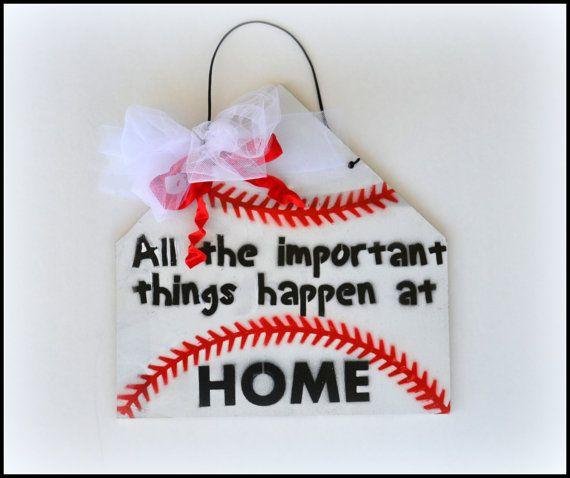 Baseball Sign Baseball Welcome Sign Boys Bedroom by PricklyPaw