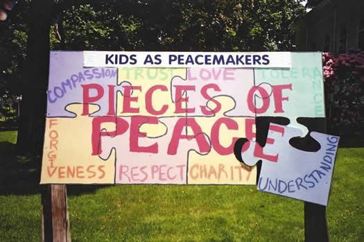 art ideas for peace mural | Kids As Peacemakers: Children's Mural Project | On Earth Peace