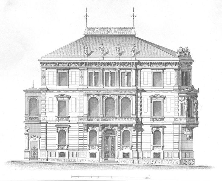 Elevation of the Villa Bohnenberger, Stuttgart