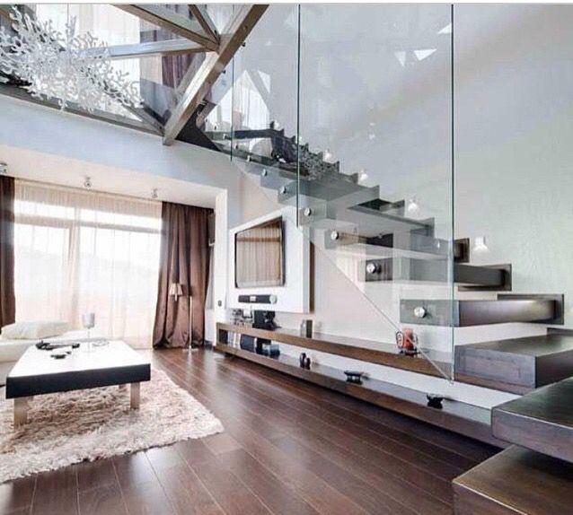 Beautiful open treads & glass balustrades