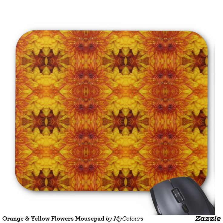 Orange & Yellow Flowers Mousepad
