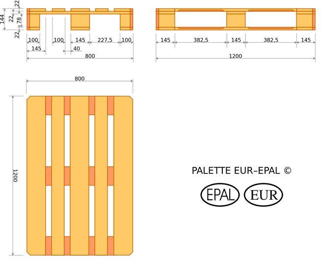 europalette maße - Google-Suche                                                                                                                                                      Mehr