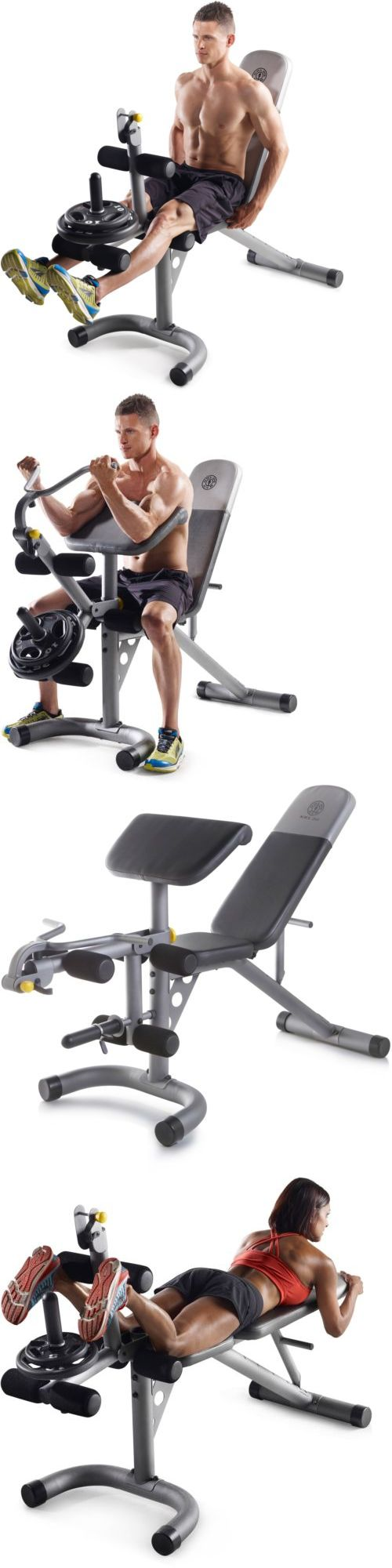 Benches 15281: Golds Gym Xrs 20 Olympic Workout Bench Weight Lifting Training Gym Station,New! BUY IT NOW ONLY: $109.29