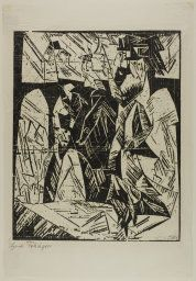 Lyonel Feininger American, 1871-1956, Promenade