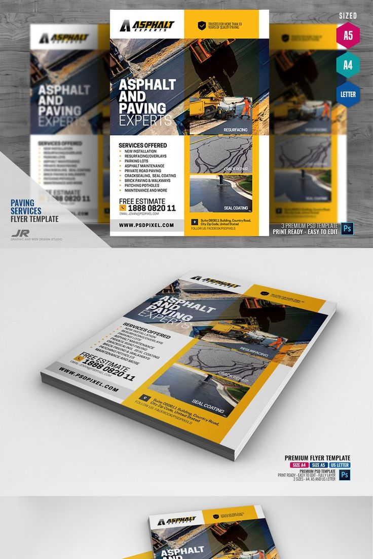 Paving Contractor Flyer