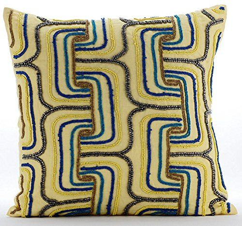Yellow Accent Pillows, Multi Color Beaded Maze Lattice Tr... https://www.amazon.com/dp/B016H8UEWW/ref=cm_sw_r_pi_dp_x_fYkFyb8BCZVXD