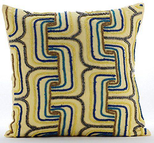 Yellow Accent Pillows, Multi Color Beaded Maze Lattice Tr... https://www.amazon.com/dp/B016H8UEWW/ref=cm_sw_r_pi_dp_x_fYkFyb8BCZVXD