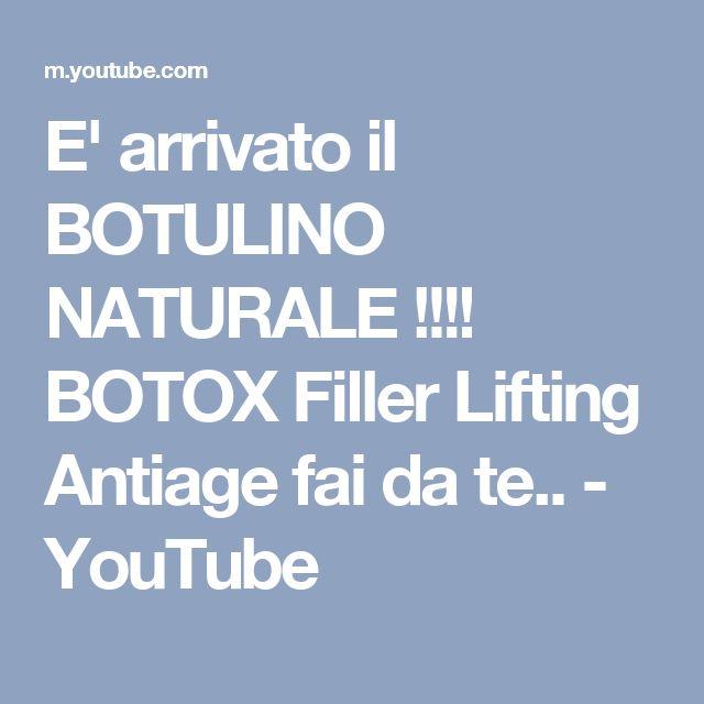 E' arrivato il BOTULINO NATURALE !!!! BOTOX Filler Lifting Antiage fai da te.. - YouTube