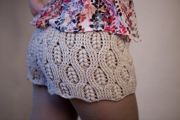 Красивые шорты для взрослых схемы крючком