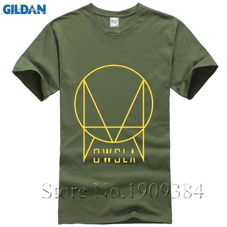2017 New Summer OWSLA Logo T Shirt Men DJ Skrillex T-Shirt Short Sleeve Cotton Men Hip Hop Tee Shirt Tops Free Shipping #Affiliate