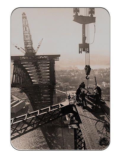 fine art poster print canberra Sydney Harbour Bridge Builders