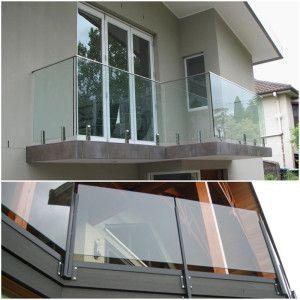 12mm Transparent Tempered Glass Balcony Railing