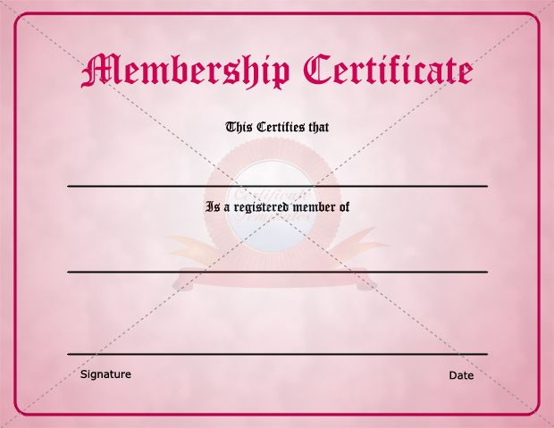 15 best Membership Certificate Template images on Pinterest - membership certificates templates