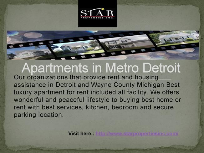 Starproperties offers apartments are Secures, stores, and distributes food to non-profit agencies in southeastern Michigan, metro detroit.