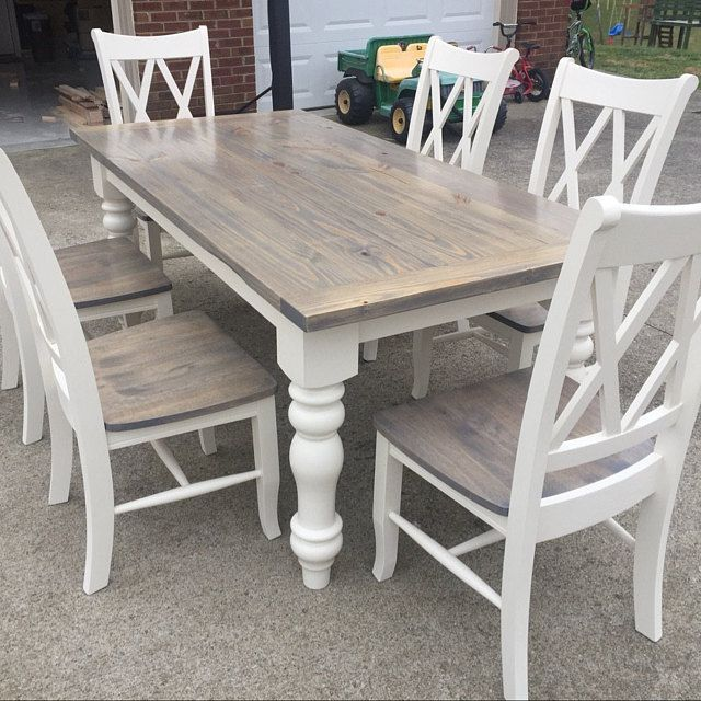 John Rachford Added A Photo Of Their Purchase Kitchentable Farmhouse Dining Room Table Farmhouse Dining Farmhouse Kitchen Tables
