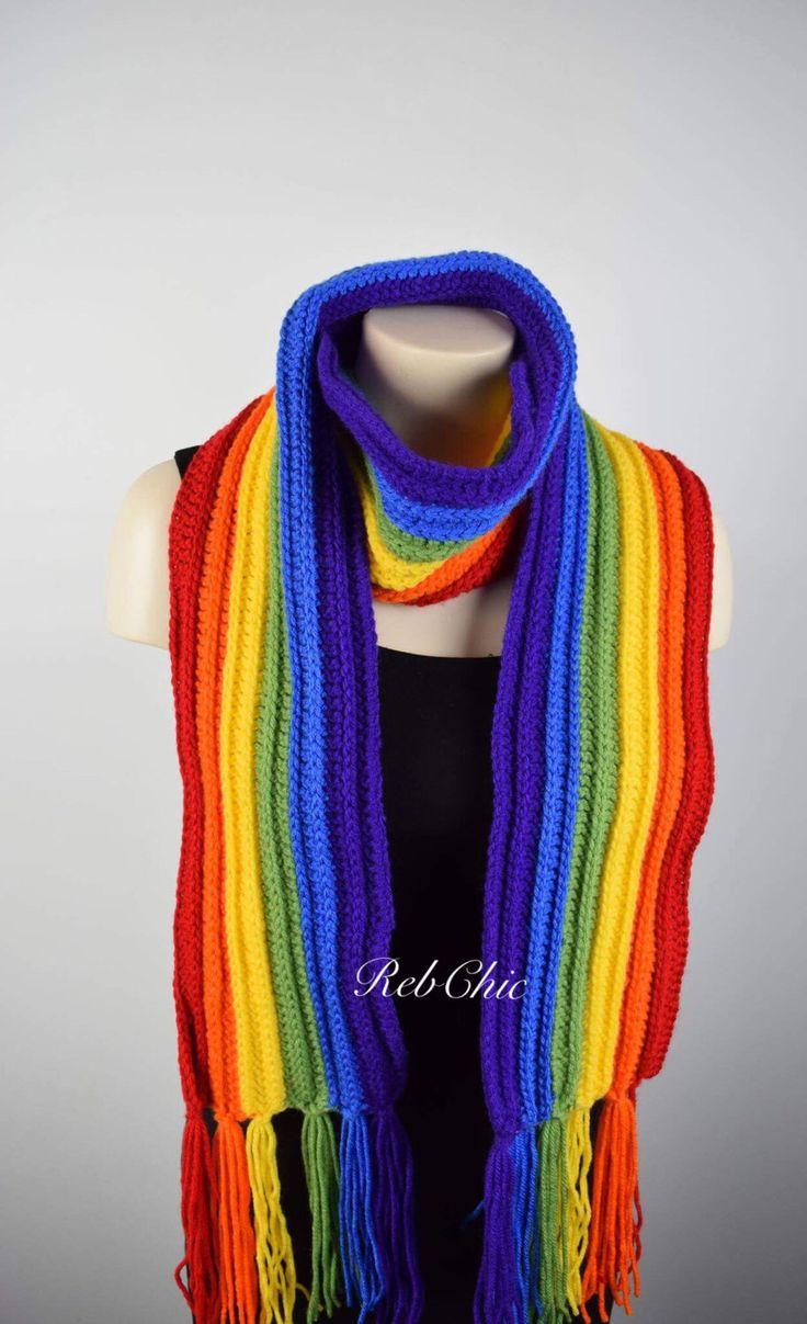 Le chouchou de ma boutique https://www.etsy.com/ca-fr/listing/483758201/rainbow-scarf-colorful-crochet-scarf