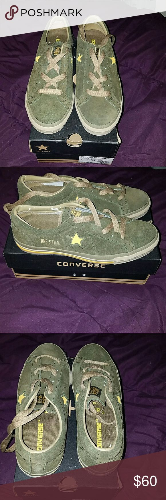 Converse One Star Premium OX BRAND-NEW 2 toned suede never worn not even laced up there is some damage to the leather on the inside of the shoe shown in photos Converse All Star Shoes Sneakers