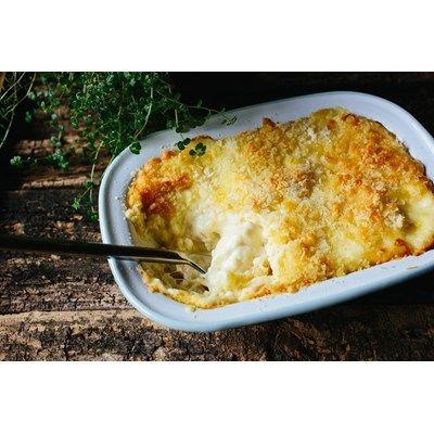 This recipe uses organic Half & Half milk to make the most velvety Macaroni Cheese. bit.ly/1Z5hI3A