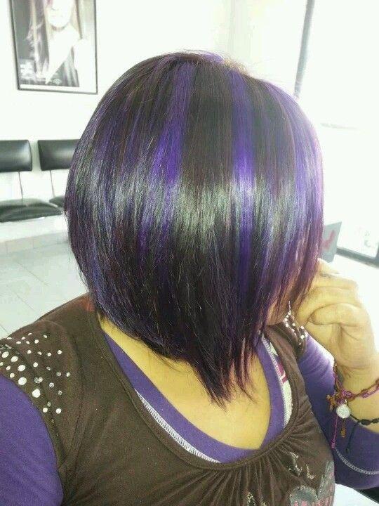 mechas moradas | lovely hair | Pinterest