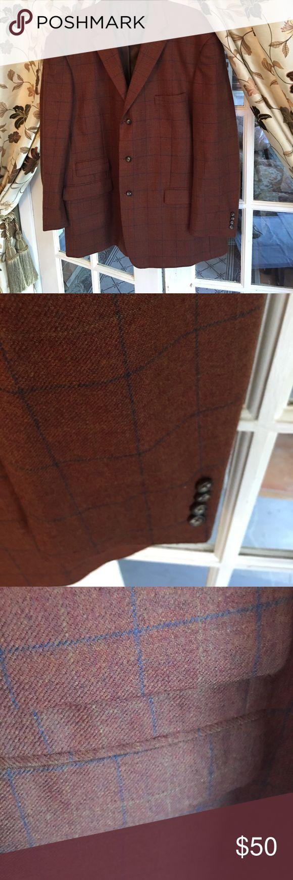 Men's wool jacket Rust wool blazer men's jacket paul frederick Suits & Blazers Sport Coats & Blazers