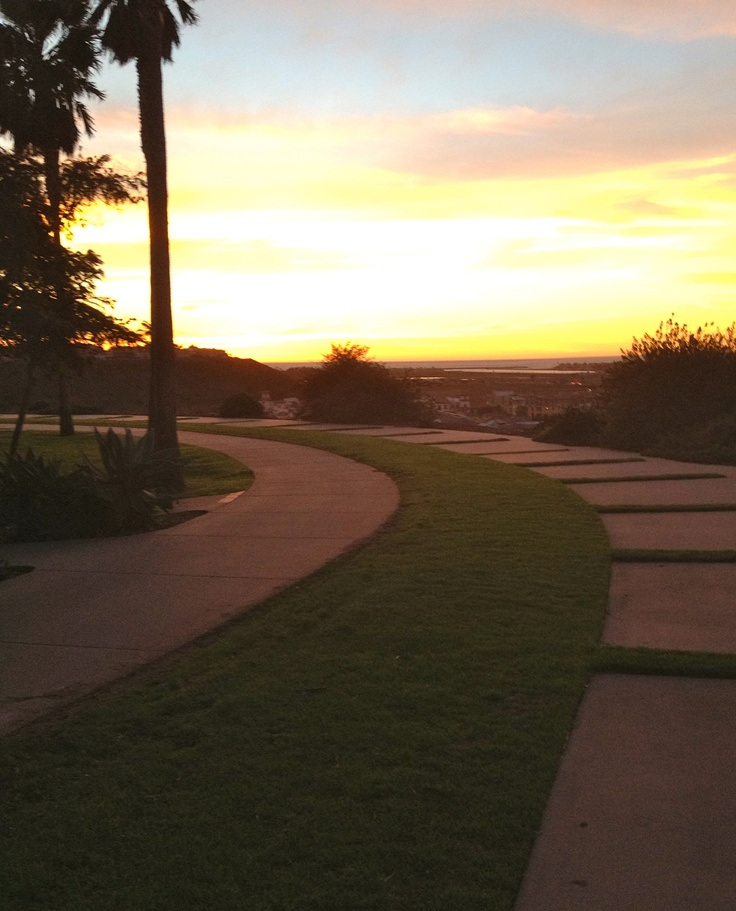 Loyola Marymount University- Sunset over the bluff