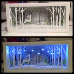 Christmas DIY: Christmas Shadow Box Christmas Shadow Box Idea #christmasdiy #christmas #diy
