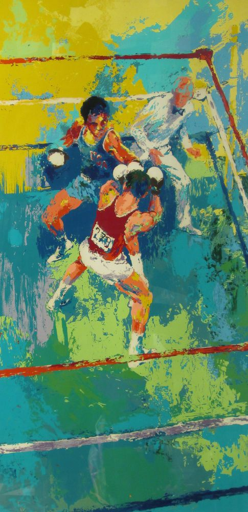 LeRoy Neiman Olympic Boxing Moscow 1980 ltd ed serigraph print signed 52x31in #Expressionism