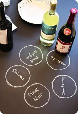 Wine-Tasting Party - have guests bring a bottle of wine and matching food to share. Must do this soon.