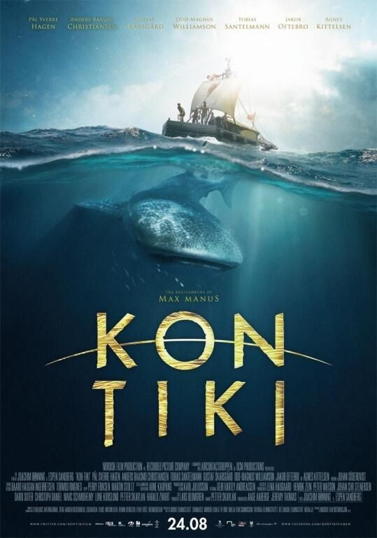 Kon-Tiki (2012) - Post-WWII, the world was weary of war and looking for heroes. It found one in explorer Thor Heyerdahl, a Norwegian adventurer who aims to show that Polynesia could have been settled from the east, not the west as traditionally believed. To test his theory, he sets out from Peru across 4,300 miles of the Pacific on a balsa-wood raft. You'll be drawn in by the story and the beautiful photography. Check it out.