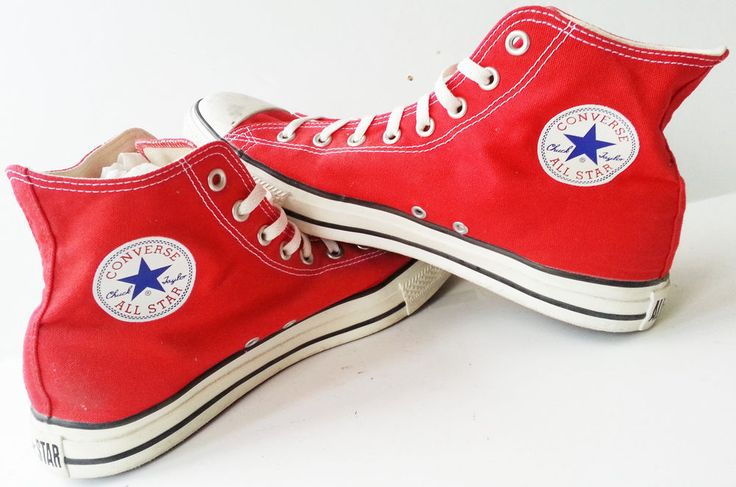 Converse Red All Star Canvas High Top Chuck Taylor Mens 11